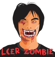 LCER ZOMBIE - portrrait of my self as a zombie by LCERancientArt