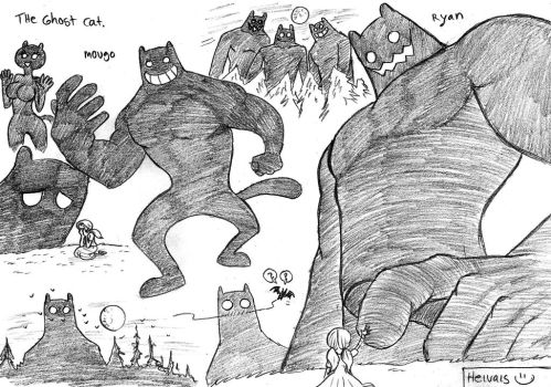 The giants ghost cats by heivais