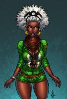 Afrocentric Storm 7: Curly Afro by ConfuciusRetaliation