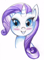 MLP- Rarity- Traditional Pastel by Sweetochii