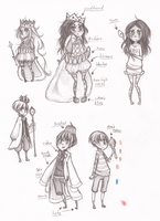Outfit Maps - Edwin and Amber by nyabunny605