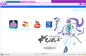 My google chrome theme that I made by JustCallMeJash
