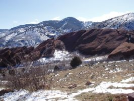 Red Rocks, CO Mountains by Stock-by-Kai