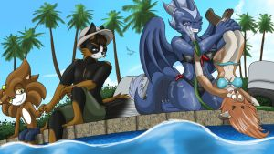 CM- Fun by the Poolside by RobtheHoopedChipmunk