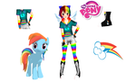 MMD Newcomer Rainbow Dash by Ayazumix3