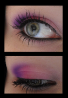 purple pink eyeshadow by NATTxo