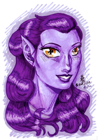 some kinda portrait: Adelicia Tilriverton by AmethystSadachbia