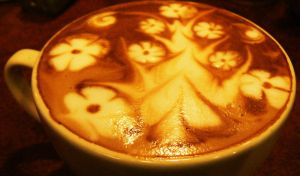 flower madness in a latte by 2antoinette2