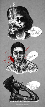 Fight Club Doodles by cactus-in-bloom
