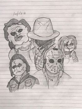 Famous horror icons by kakeru30