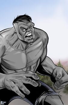 Gray Hulk by DarthTerry