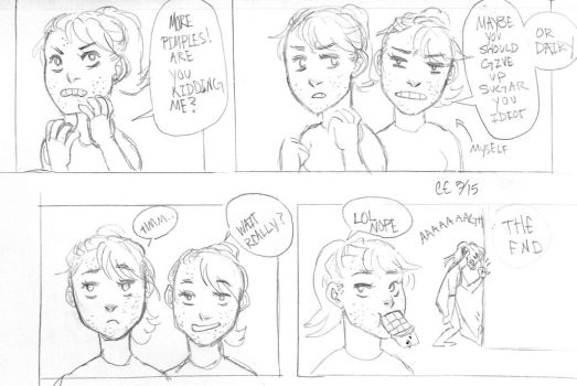 a comic about acne by mangafreak128