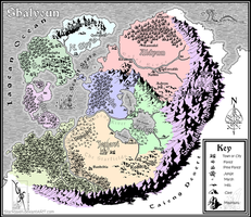 Map of Shalyeun by StarRaven