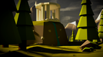 Low-Poly Pavilion on the hill by FlamingArsonist
