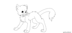 FREE CAT LINEART by iW-O-L-F