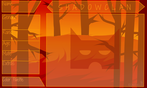 SHADOWCLAN Application Sheet [DWW] by cometfurs