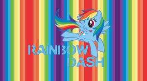 Rainbow Dash Wallpaper Striped by StrawberryHollow