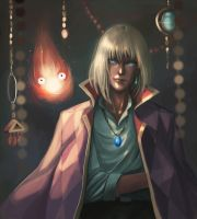 Howl and Calcifer || with painting process by fcnjt