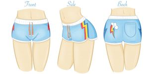 Concept Art: Rainbow Dash PJ Shorts! by steffy-beff