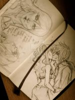 Moleskine Sketch 10 - Hermes Design and Kiss by Millennia91