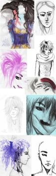 Sketchdump by FangedFirebreather