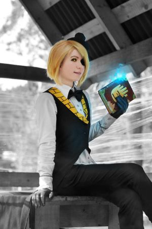 Gravity falls - Bill Cipher cosplay - 2 by Dokura-chan