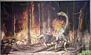 Prehistoric forest on fire by Lynus-the-Porcupine