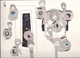 Portal- The Cores by morifangirl