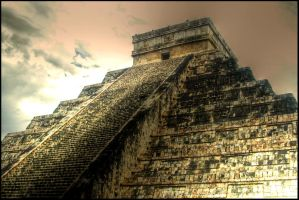 Golden Pyramid by mikechro