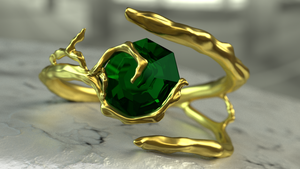 Kokiri Emerald Ring  - Redesign by Serrawolfe