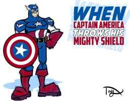 When Captain America Throws His Mighty Shield by greatwuff