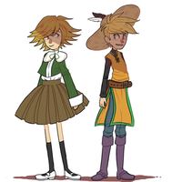 Chihiro and Yellow by PastelWing