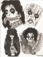 Alice Cooper Album Covers by AlicesArtMaiden