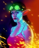 Glowing tattoo by Mancomb-Seepwood