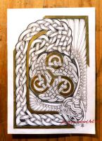 Random knot with triskelion by Feivelyn