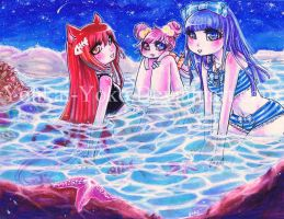 Midsummers Night Swim by Youkai-Yoko