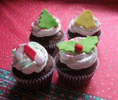 Christmas cupcakes 1 by lifextime