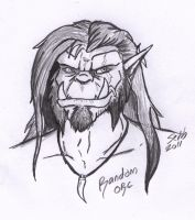Random Orc Sketch try-out. by Trollsngoblins