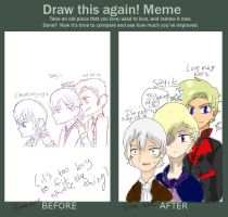 Before and After meme by pretzelpie