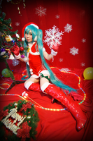 MIKU DIVA2 X'MAS LOOK by michivvya