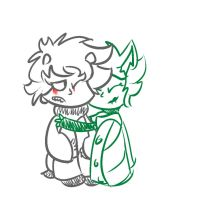 Karkat and Kanaya by chewyrainbow
