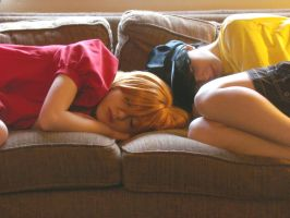 Ponyo And Sosuke: Sleeping by The-Sexy-Roxas