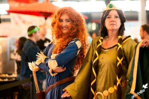 Merida and Queen Elinor ~ by Pandore11