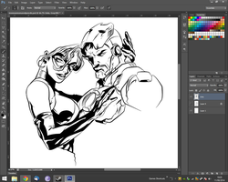 WIP - Ironman and Ms Marvel by adambn