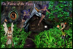 Fairies of the Forest by Obsidian-Siren