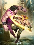 Street FIgther Unlimited 8 cover - Alex VS Hugo by GENZOMAN