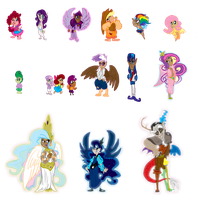 My Little mythological races by Ghost-Peacock