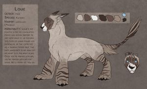 Louie the Kanisrex reference sheet by Kium