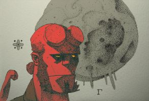 Hellboy by elgama
