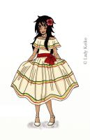 Honduras's Traditional Dress by LKeiko